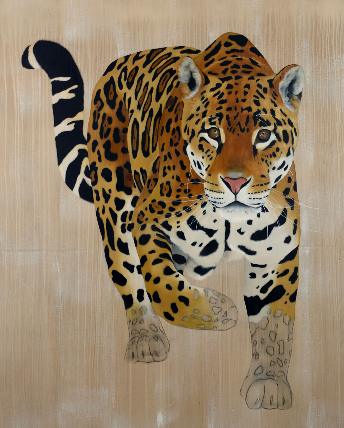 Pantera-Onca panthera-onca-jaguar-delete-threatened-endangered-extinction- Thierry Bisch Contemporary painter animals painting art  nature biodiversity conservation
