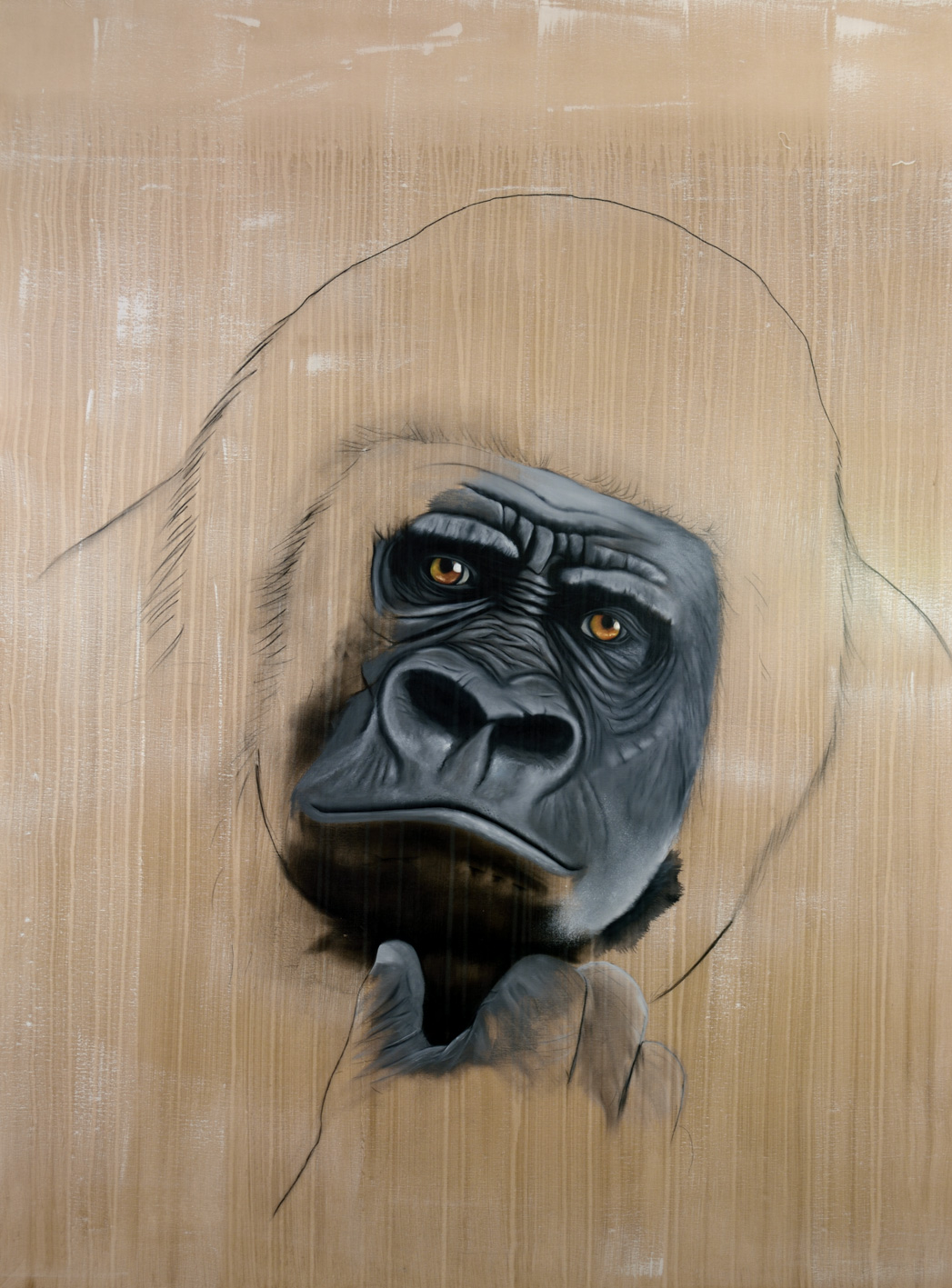 GORILLA-GORILLA divers Thierry Bisch painter animals painting art decoration hotel design interior luxury nature biodiversity conservation