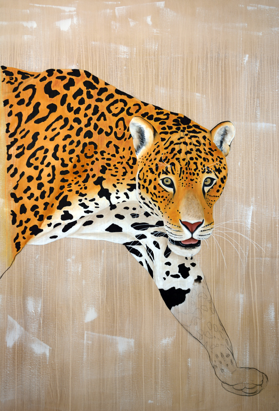 PANTHERA-ONCA divers Thierry Bisch Contemporary painter animals painting art decoration nature biodiversity conservation