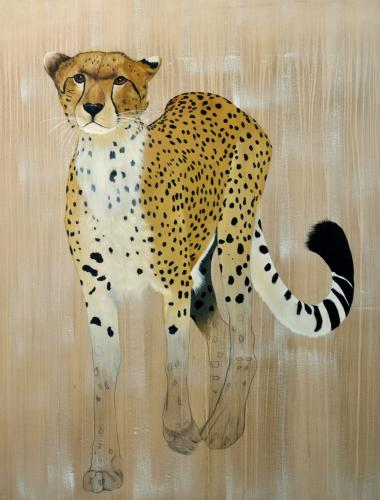 acinonyx jubatus cheetah delete threatened endangered extinction  Thierry Bisch painter animals painting art decoration hotel design interior luxury nature biodiversity conservation