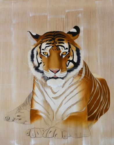 panthera tigris tiger royal delete threatened endangered extinction thierry bisch Thierry Bisch Contemporary painter animals painting art decoration nature biodiversity conservation