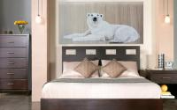 Madame-Ourse BEAR-POLAR-FEMALE Thierry Bisch painter animals painting art decoration hotel design interior luxury nature biodiversity conservation