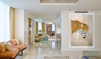 PANTHERA ONCA jaguar-panthera-onca-panther-deco-decoration-large-size-printed-canvas-luxury-high-quality Thierry Bisch painter animals painting art decoration hotel design interior luxury nature biodiversity conservation